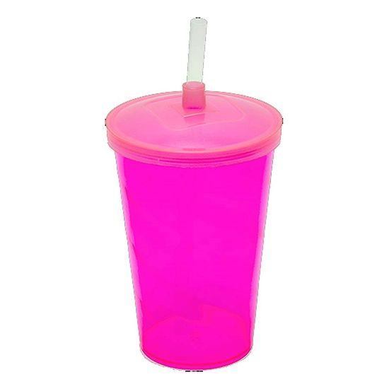 Copo Mini Shake em Acrílico 300ml - Rosa Neon