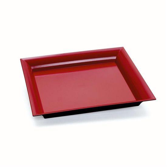 Bandeja Decorativa Quadrada Vermelho 25x25x2,5