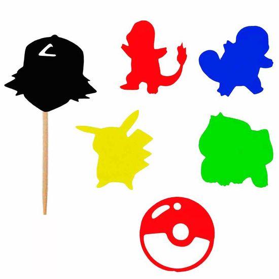 Enfeite para Doces no Palito Pokémon - 06 Un