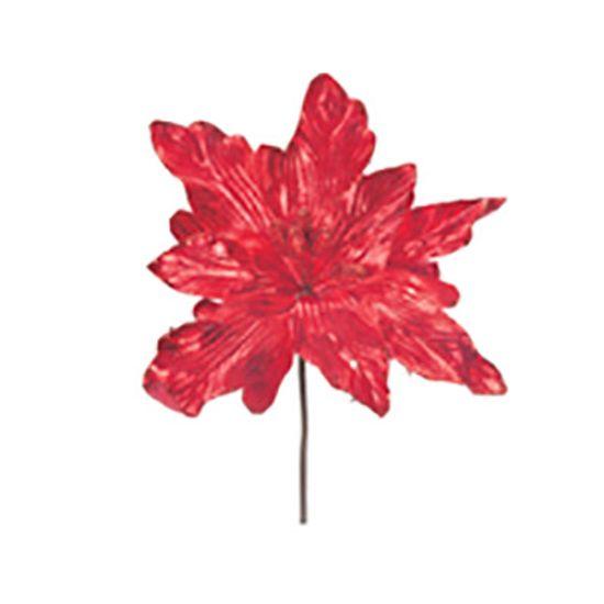 Poinsettia Vermelho (Flores Cabo Curto) - 3 Un