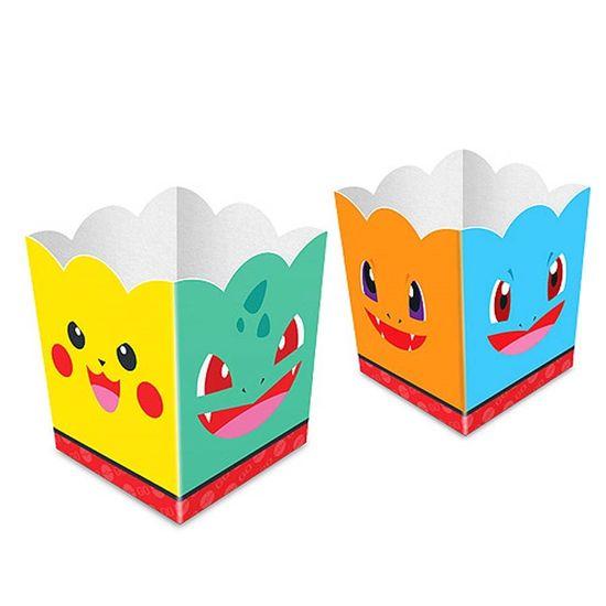 Festa Pokémon - Cachepô Pocket Monsters - 08 unidades Cachepô Pocket Monsters - 08 unidades