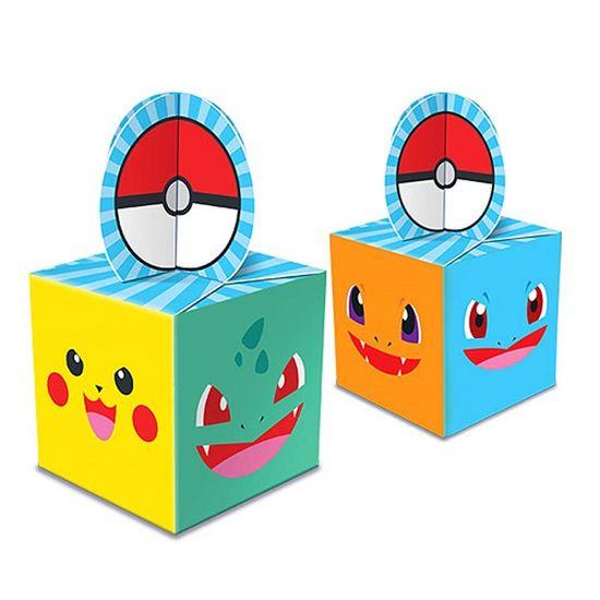 Caixa para Lembrancinhas Pocket Monsters - 08 unidades