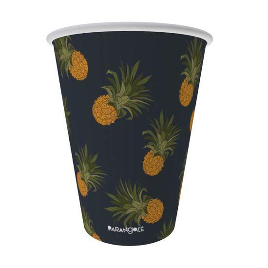 Parangolé - Copo de papel 240ml Estampa 2 Tropical Abacaxi 08 Un