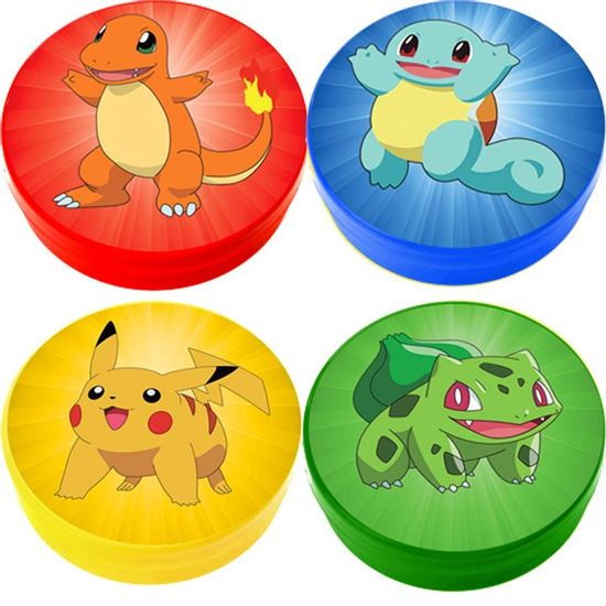 Latinha Plástica 5x1 Lembrancinha Pokémon BICHINHOS - 04 Un