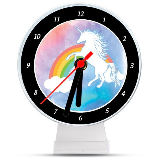 Lembrancinha/ Enfeite de Mesa Relógio Unicórnio