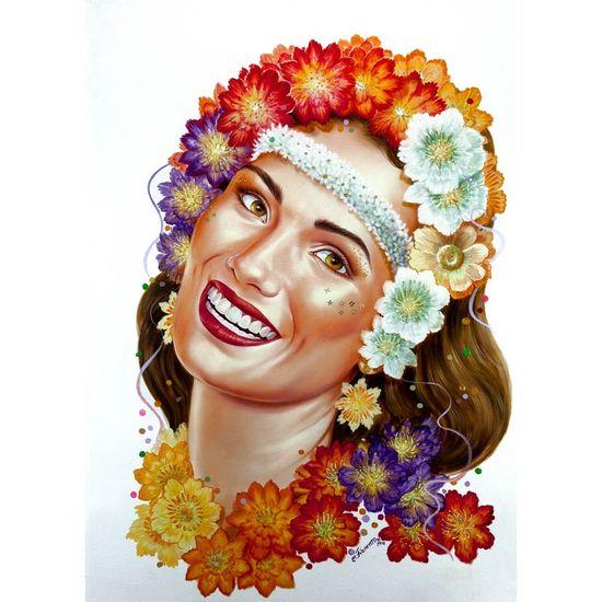 Painel Impresso para Decoração de Salão - Havaiana
