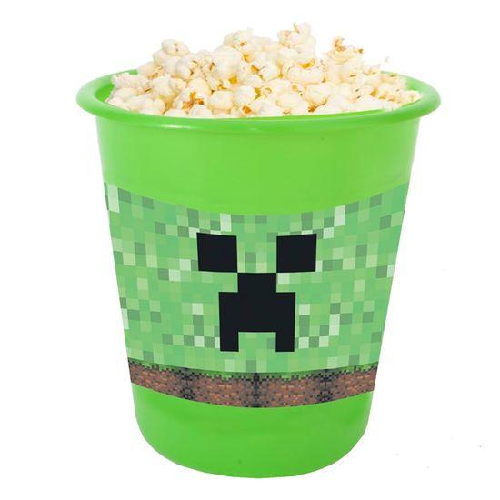 Festa Minecraft - Adesivo para Balde de Pipoca 12x8cm Minecraft CREEPER - 03 Un
