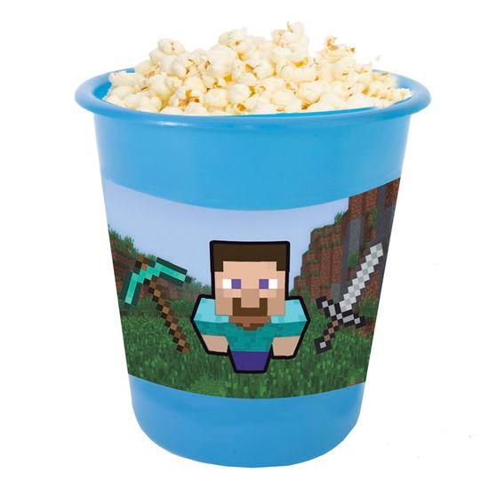 Festa Minecraft - Adesivo para Balde de Pipoca 12x8cm Minecraft STEVE - 03 Un