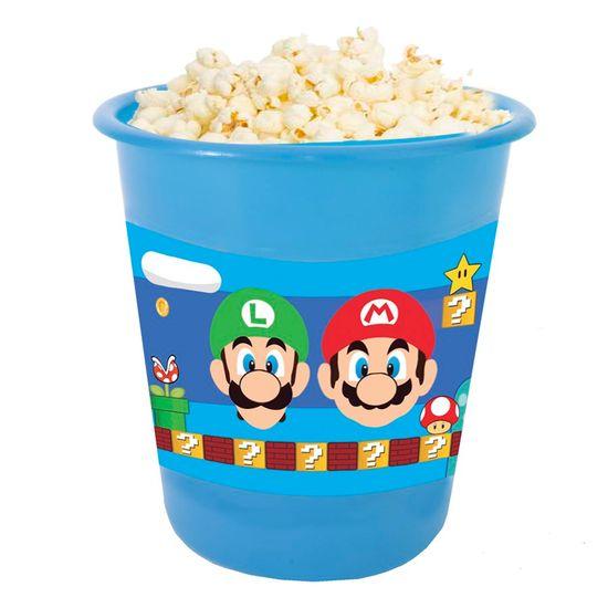 Festa Super Mário - Adesivo para Balde de Pipoca 12x8cm Super Mario Bros - 03 Un