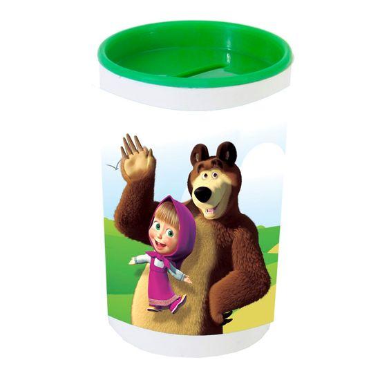 Festa Masha e o Urso - Cofrinho Porta-moedas com Adesivo Masha e o Urso