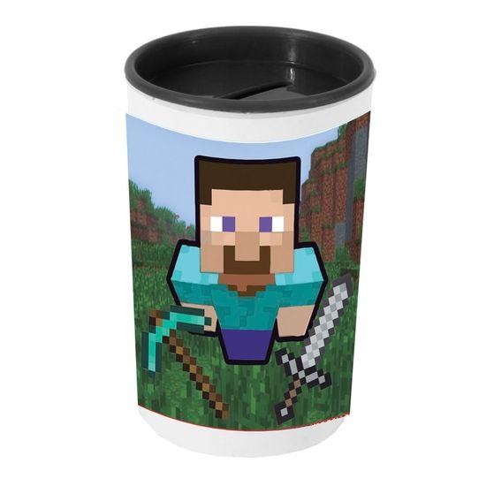 Festa Minecraft - Cofrinho Porta-moedas com Adesivo Minecraft STEVE