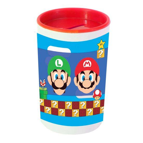 Festa Super Mário - Cofrinho Porta-moedas com Adesivo Super Mario Bros