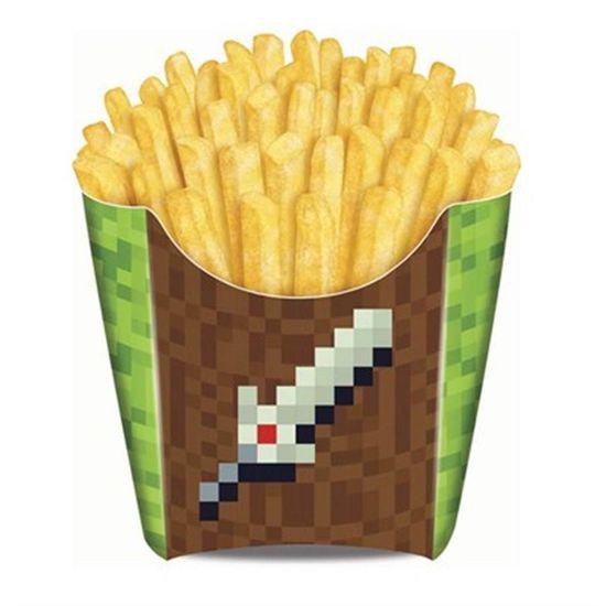 Festa Minecraft - Caixa para Fritas Game - 08 unidades