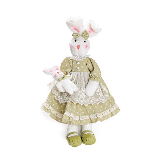 Coelha Vestido Poá Verde ( Baba de Moça ) - 2 Un