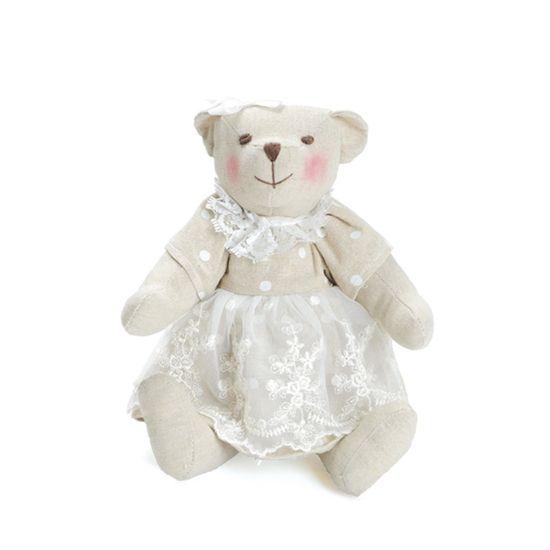 Ursa Vestido Poá Bege ( Muffin ) - 2 Un