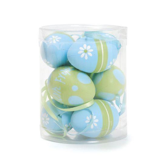 Caixa 9 Ovos Galinha Verde Azul Claro ( Mel ) - 4 Jogos com 9 Peças