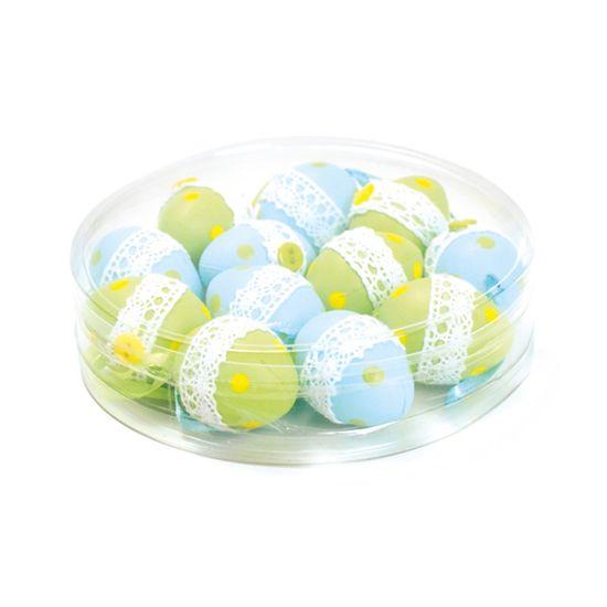 Ovos Codorna Verde Azul Claro ( Mel ) - 4 Jogos com 12 Peças