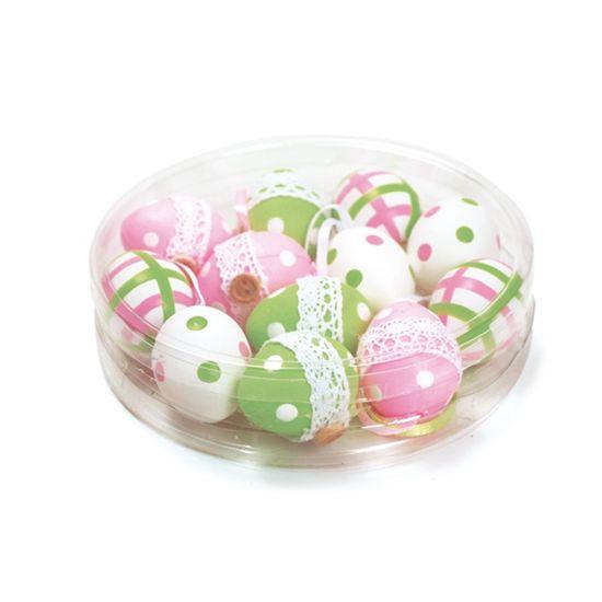 Casadinho2 Ovosortidos Branco e Verde e Rosa 4 - 12 Un