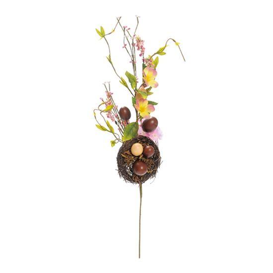 Galho Ovos de Chocolate Marrom e Bege ( Fondant ) - 6 Un