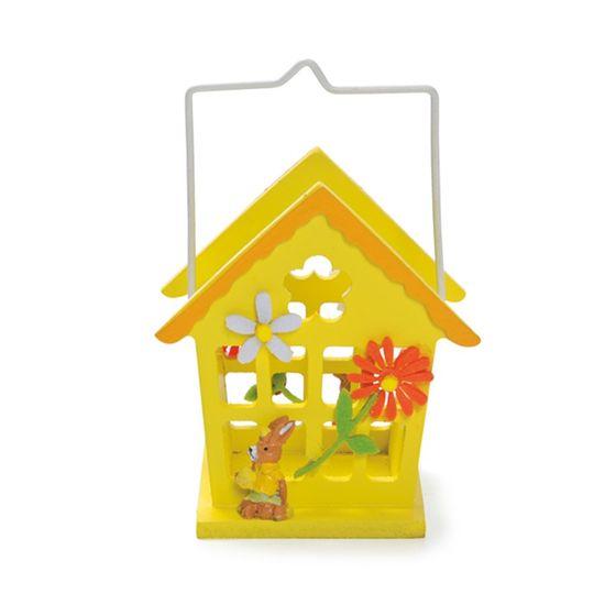 Cromus - Casinha Amarelo Tamanho Pequeno ( Complementos ) - 4 Unidades