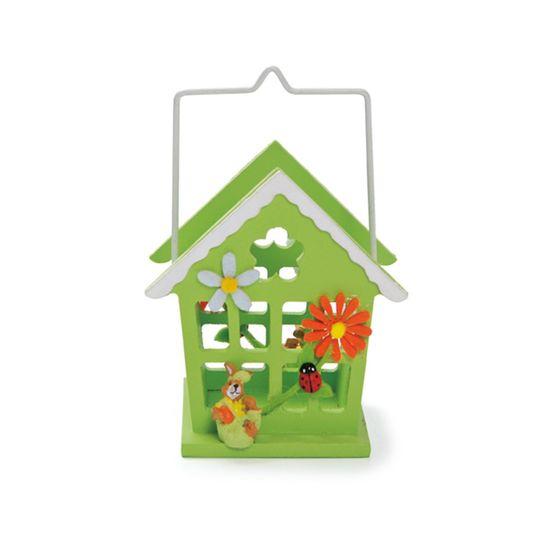 Cromus - Casinha Verde Claro Tamanho Pequeno ( Complementos ) - 4 Unidades