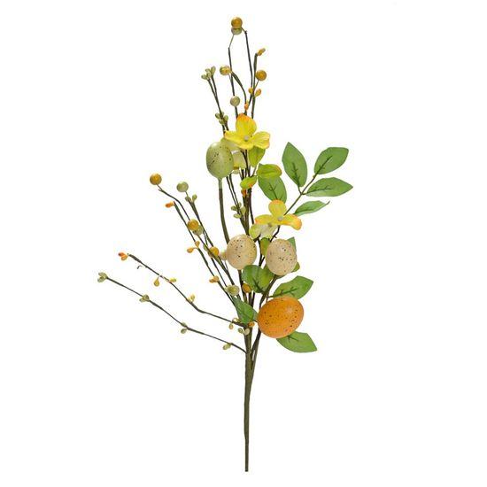 Fondant Pick Ovos Amarelo, Verde e Laranja - 6 Un