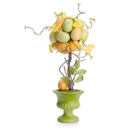 Fondant - Topiaria com Ovos Amarelo/Verde/Laranja - 02 Un