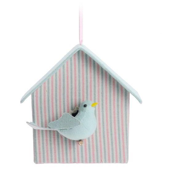 Glace Casa Pássaro Rosa e Azul - 4 Un