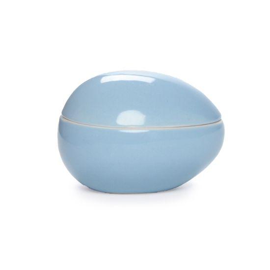 Guloseima - Pote de Cerâmica Ovo Deitado Azul - 02 Un