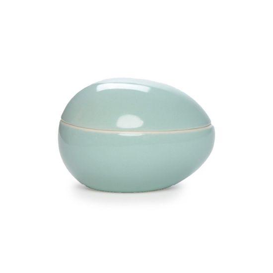 Guloseima - Pote de Cerâmica Ovo Deitado Verde - 02 Un