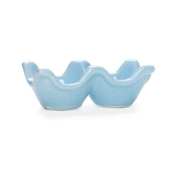Guloseima - Suporte de Cerâmica para 02 Ovos Azul - 04 Un