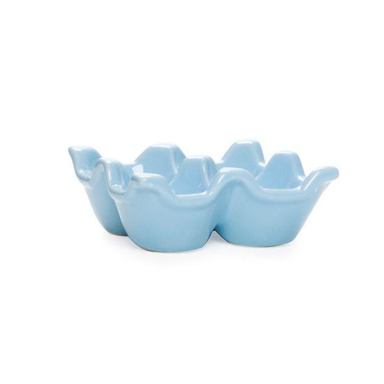 Guloseima - Suporte de Cerâmica para 04 Ovos Azul - 04 Un