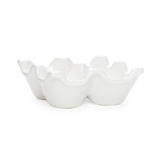 Guloseima - Suporte de Cerâmica para 04 Ovos Branco - 04 Un