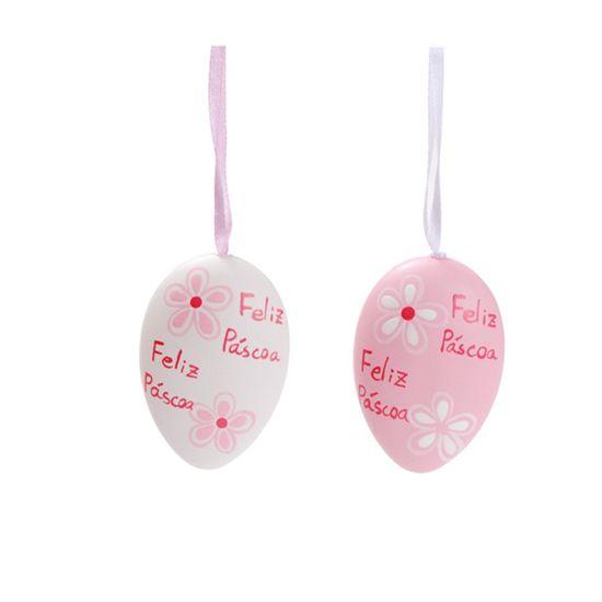 Ovos Chapados Rosa Claro e Branco ( Mel ) - 6 Jogos com 6 Un com 6 Peças