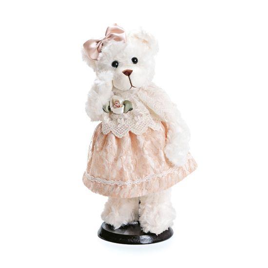 Ursa Pelúcia Branco e Marrom Marfim Tamanho Pequeno ( Mil Folhas ) - 2 Un