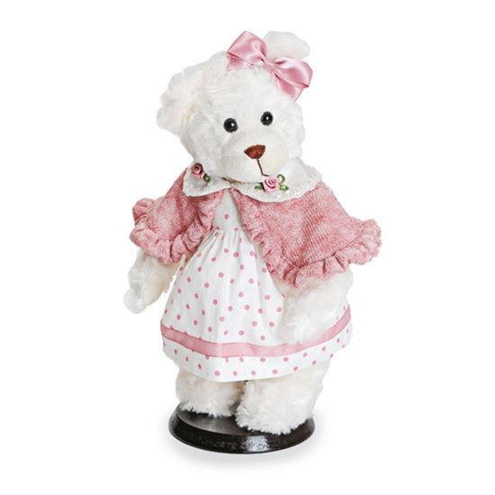 Ursa Vestido Poá Rosa Claro e Branco ( Mil Folhas ) - 2 Un