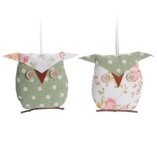 Corujas 2 Verde e Rosa Claro Tamanho Pequeno ( Muffin ) - 6 Un