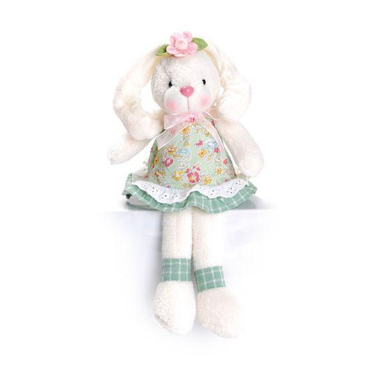 Coelha Sentada Verde Claro e Rosa Claro ( Pistache ) - 2 Un