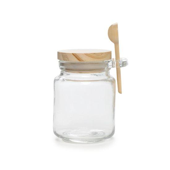 Pote Colher Madeira Incluso 220Ml ( Potinhos de Vidro ) - 12 Un