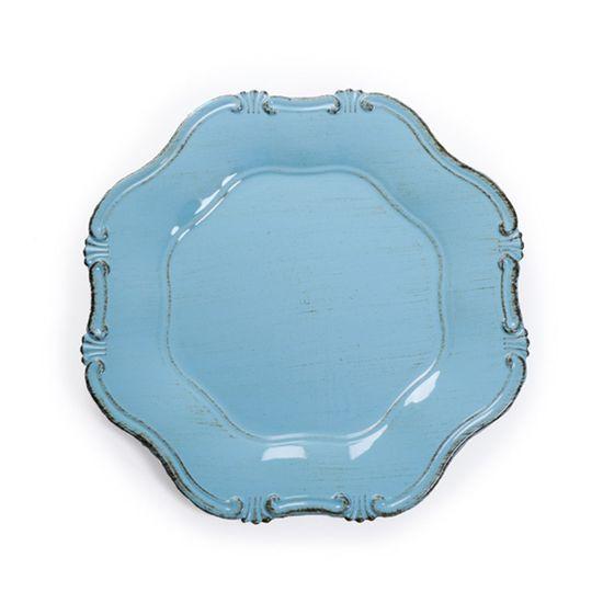 Sousplat Oitavado Azul Claro ( Bandejas e Sousplats ) - 6 Un