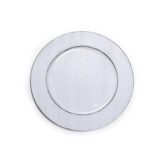 Sousplat Liso Provencal Branco( Bandejas e Sousplats ) - 6 Un