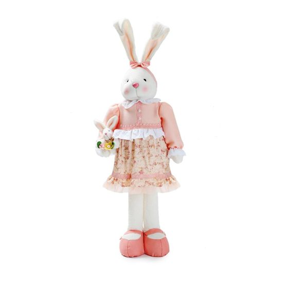 Coelha em Pé Rosa e Verde ( Bala de Coco )