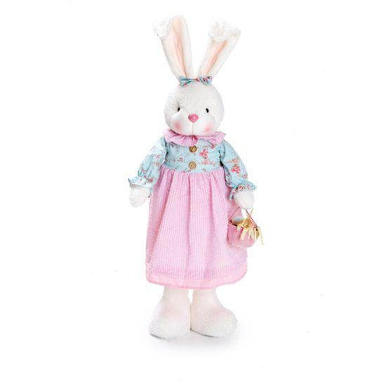 Coelha em Pé Azul Claro e Rosa Claro ( Vanilla )