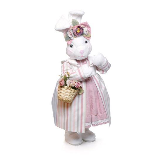 Mil Folhas Coelha Branco e Rosa em Cinza