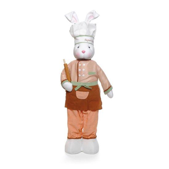 Coelho Chef em Pé Cor Marrom 80cm ( Super Chef )