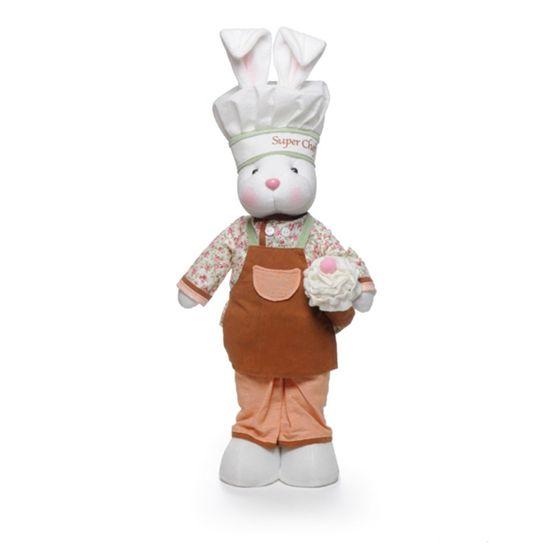 Coelha Chef em Pé Cor Marrom 53cm ( Super Chef )
