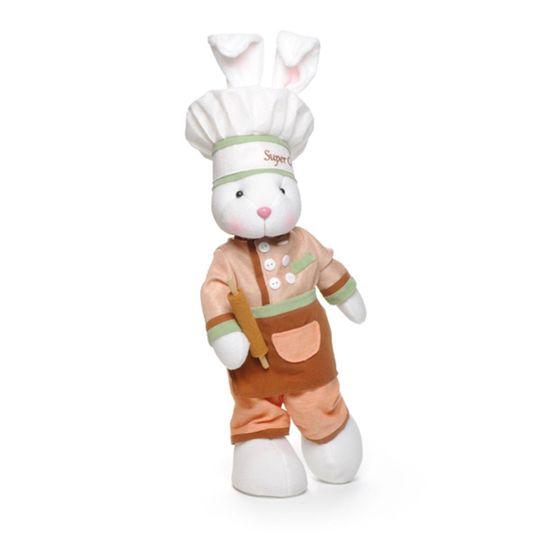 Coelha Chef em Pé Cor Marrom 43cm ( Super Chef )