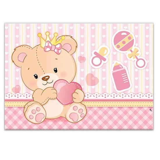 Painel Gigante Cartonado Baby Ursinha Menina