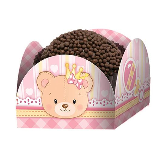 Porta-forminha Baby Ursinha Menina - 50 Un