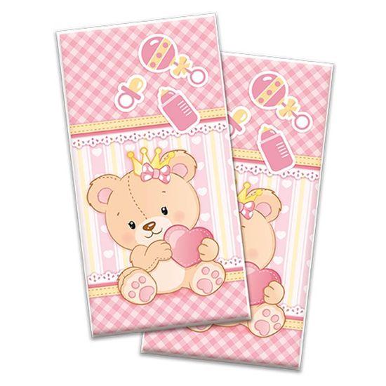 Sacola Plástica Baby Ursinha Menina - 08 Un